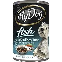 MY DOG Fish with Sardines Wet Dog Food, 400g x 24 Pack, Adult, Small/Medium