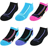 Fruit of the Loom Girls' Everyday Active No Show Athletic Socks (6 Pack)