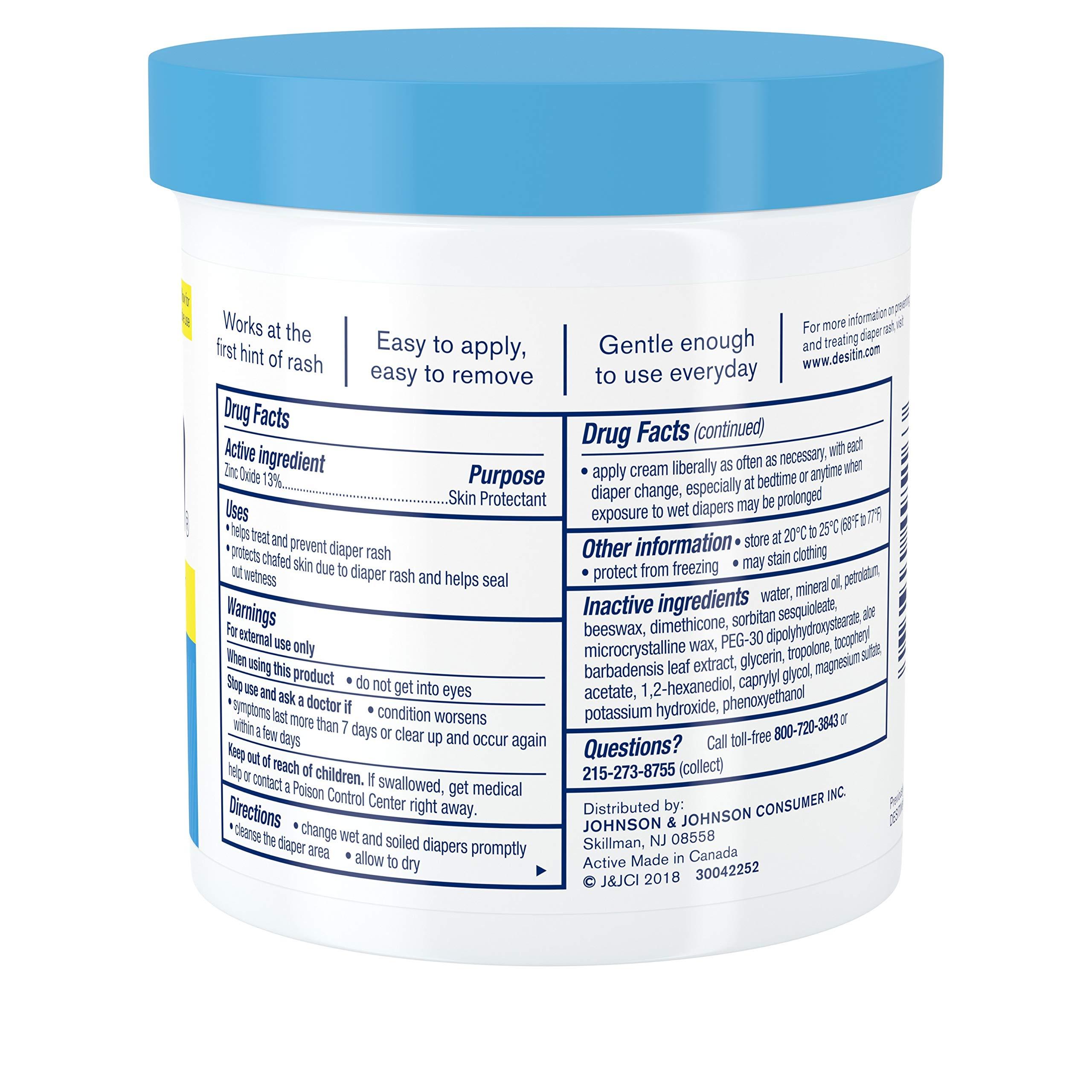 Desitin Daily Defense Baby Diaper Rash Cream with Zinc Oxide to Treat, Relieve & Prevent diaper rash, 16 oz by Desitin (Image #9)