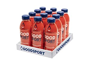 GoodSport Fruit Punch, Electrolyte Sports Drink, Rapid & Long-lasting Hydration, 16.9. oz (12 Count)