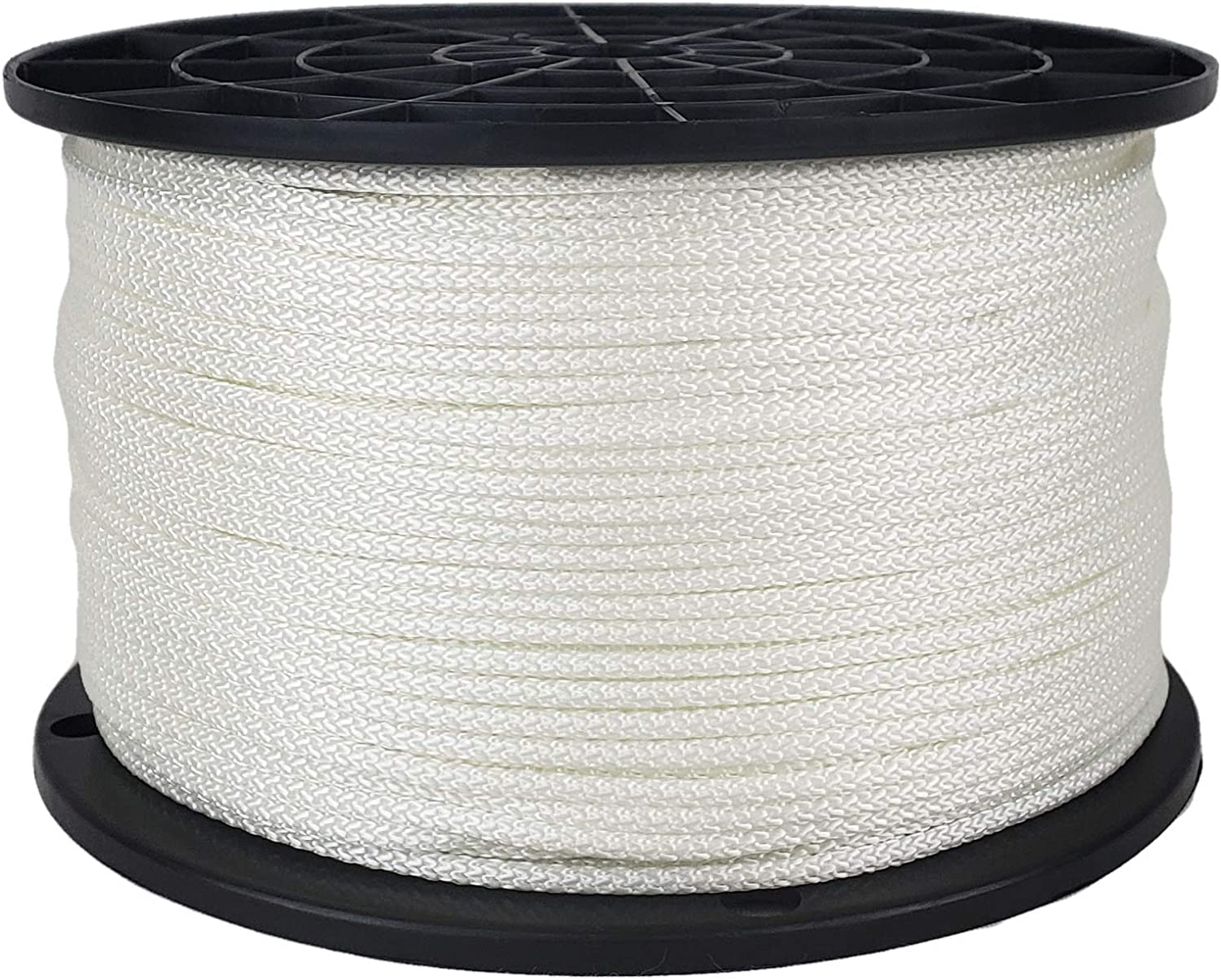 Industrial Grade 1//8 inch White Polyester Rope Low Stretch High UV and Abrasion Resistance 1000 Foot Spool