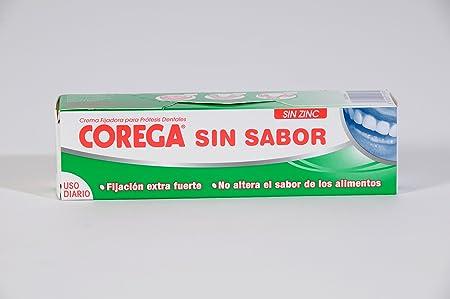 COREGA Crema Fijadora para Prótesis Dentales sin Sabor 40 g