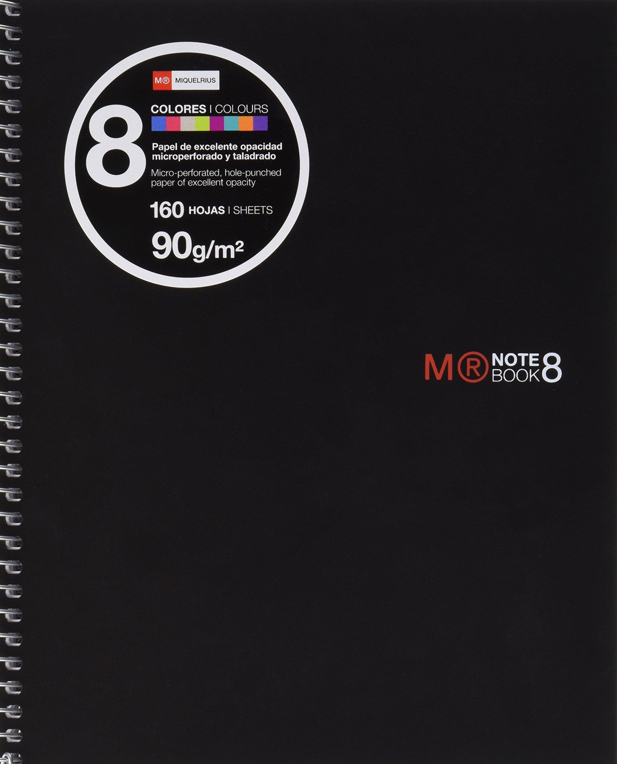 Miquel Rius 44905 - Black Notepad A5 Size 160 Sheets