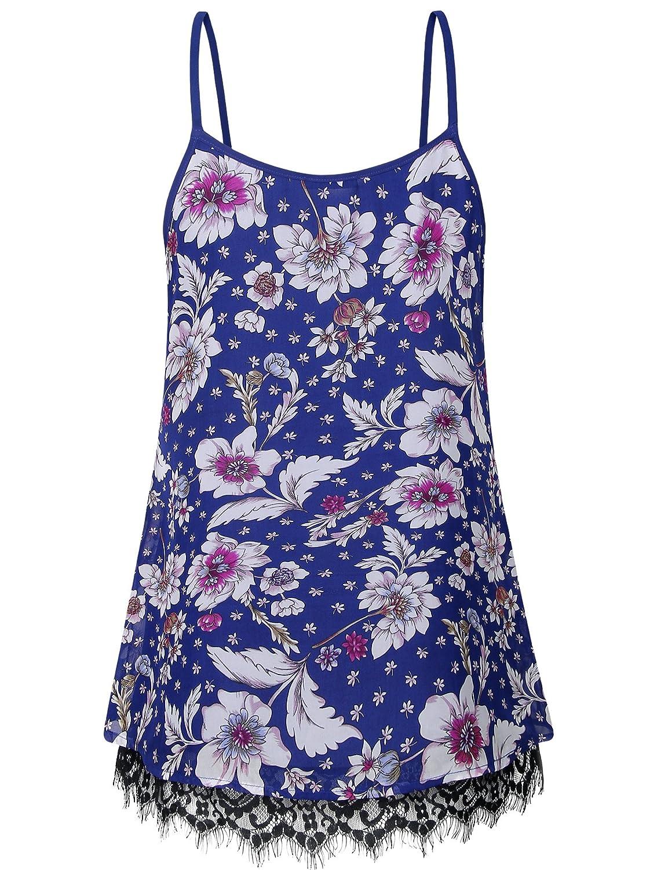 6f015a255c9e8 Messic Women s Casual Tunic Tank Tops Chiffon V Neck Sleeveless Blouse Tops  at Amazon Women s Clothing store