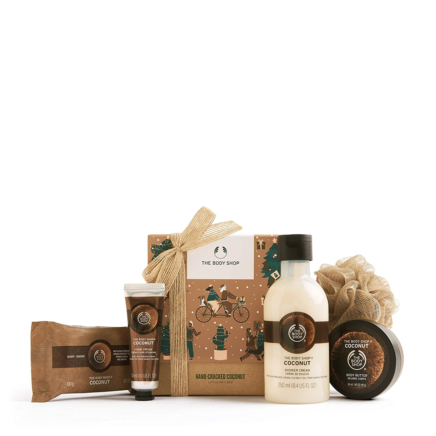 The Body Shop Coconut- 5pc Small Gift Set, Includes Our Signature Body Butter