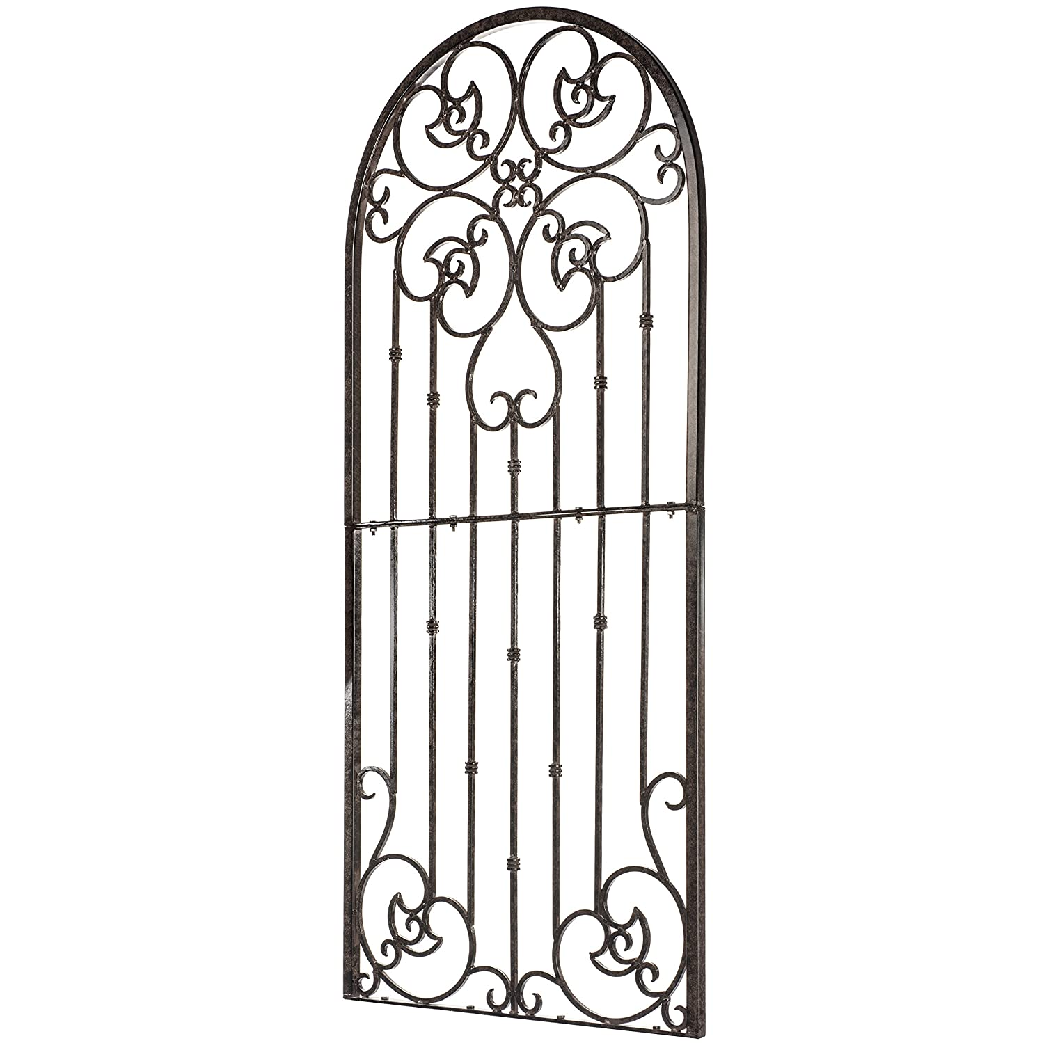 H Potter Garden Trellis for Climbing Plants Metal Wrought Iron Outdoor Wall Panel for Vines Flowers