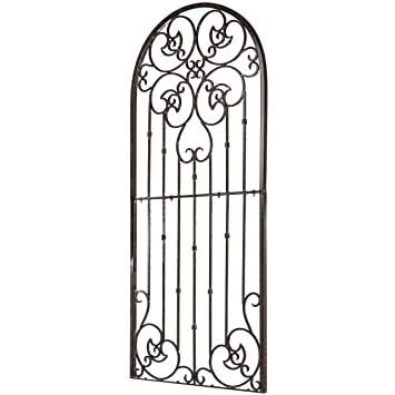 Bon H Potter Garden Trellis Wrought Iron Heavy Scroll Metal Decoration (Large)