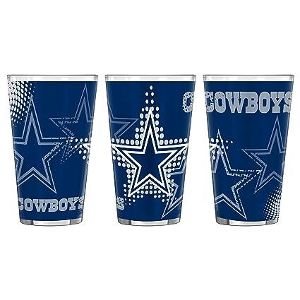 2-Pack 16-ounce Boelter Brands NFL Dallas Cowboys Half Tone Pint Glass