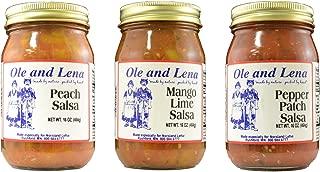 product image for Ole & Lena 3 Pack Salsa - Peach Salsa, Mango Lime Salsa, Pepper Patch Salsa