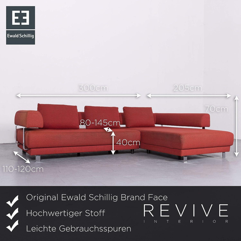 Ewald Schillig Brand Face Designer Stoff Sofa Rot Ecksofa Couch