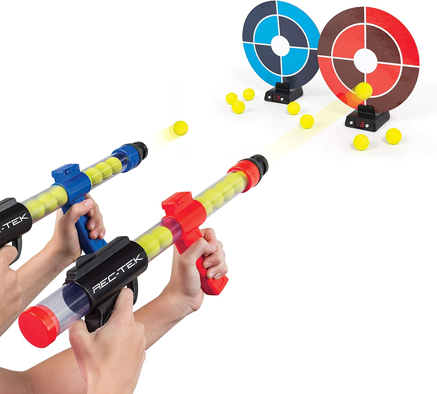 Complete with All Accessories Features Automatic Scoring Rec-Tek Dueling Sniper Shootout Game for Kids