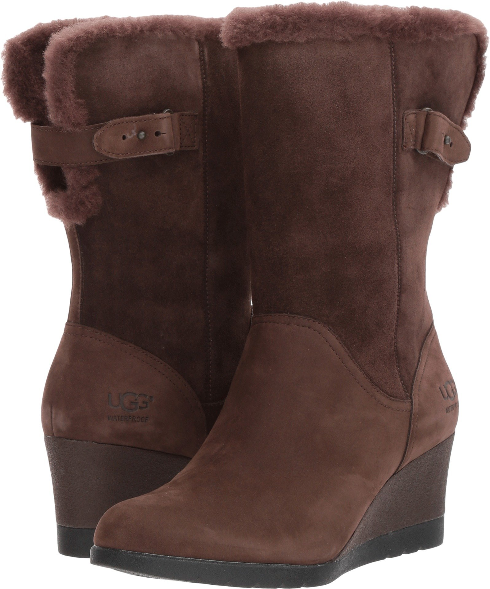 UGG Women's Edelina Winter Boot, Grizzly, 8.5 M US