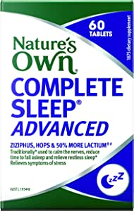 Nature's Own Complete Sleep Advanced - Traditionally used to improve sleep quality and relieve sleeplessness, 60 Tablets