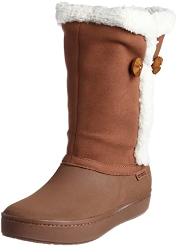 5c429f9d5553 Crocs Womens Modessa Synthetic Suede Button Boot Shoes