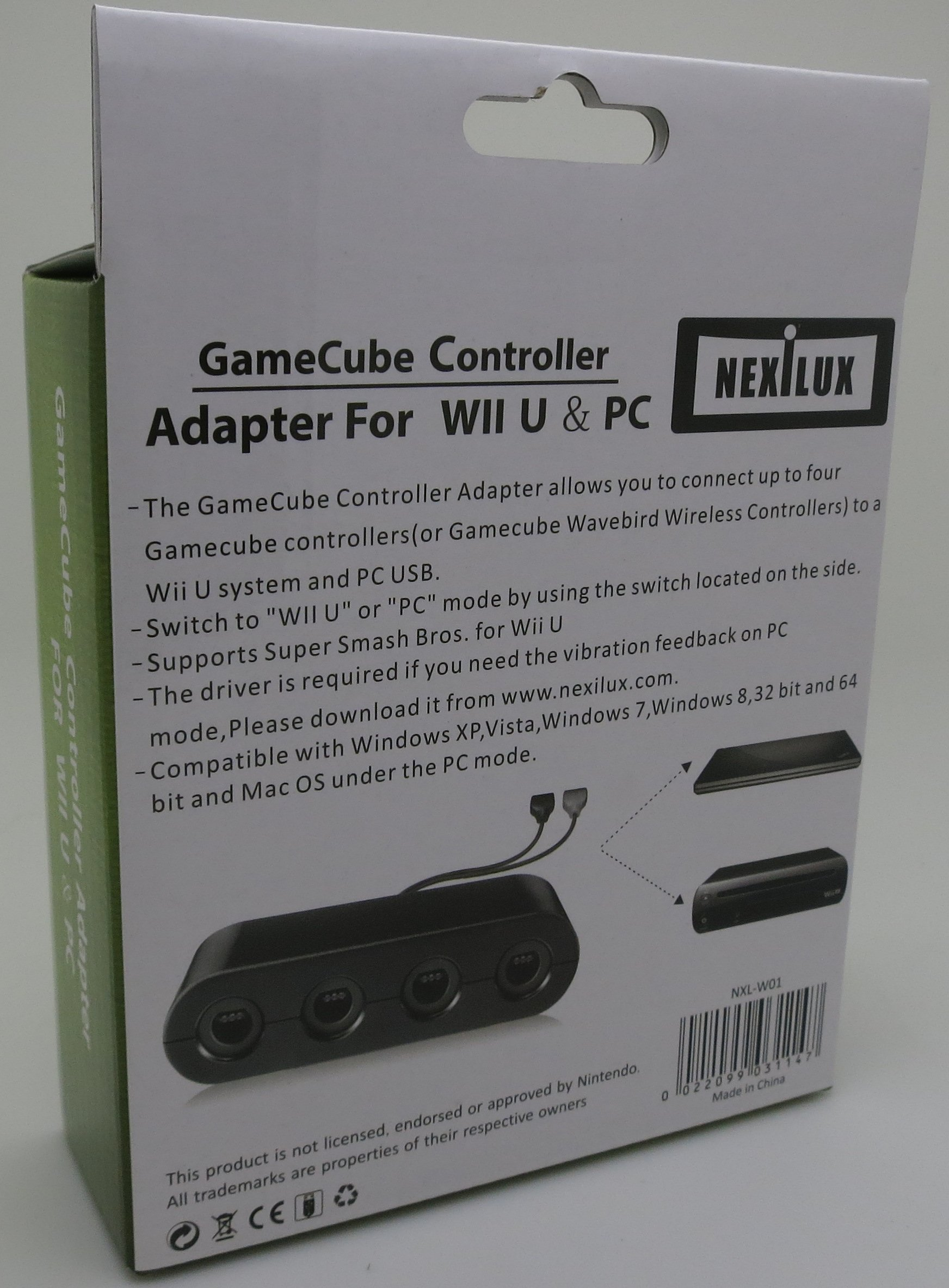 GameCube Controller Adapter for Wii U, PC USB & Switch - NEXiLUX ...