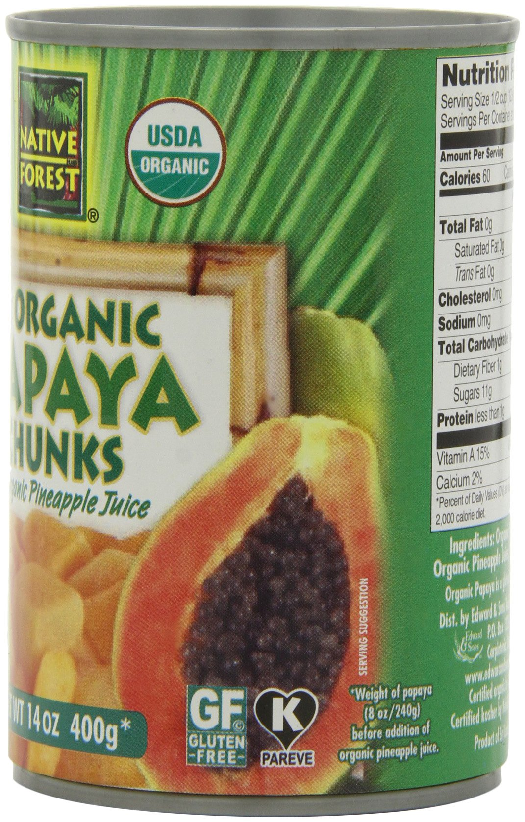 Native Forest Organic Papaya Chunks, 14-Ounce Cans (Pack of 6) by Native Forest (Image #5)
