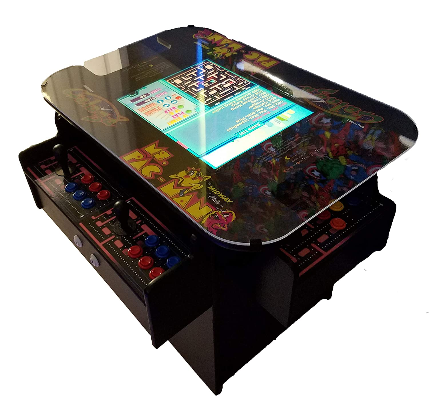 Arcade Coffee Table.3 Sided Cocktail Arcade Machine With 1162 Games