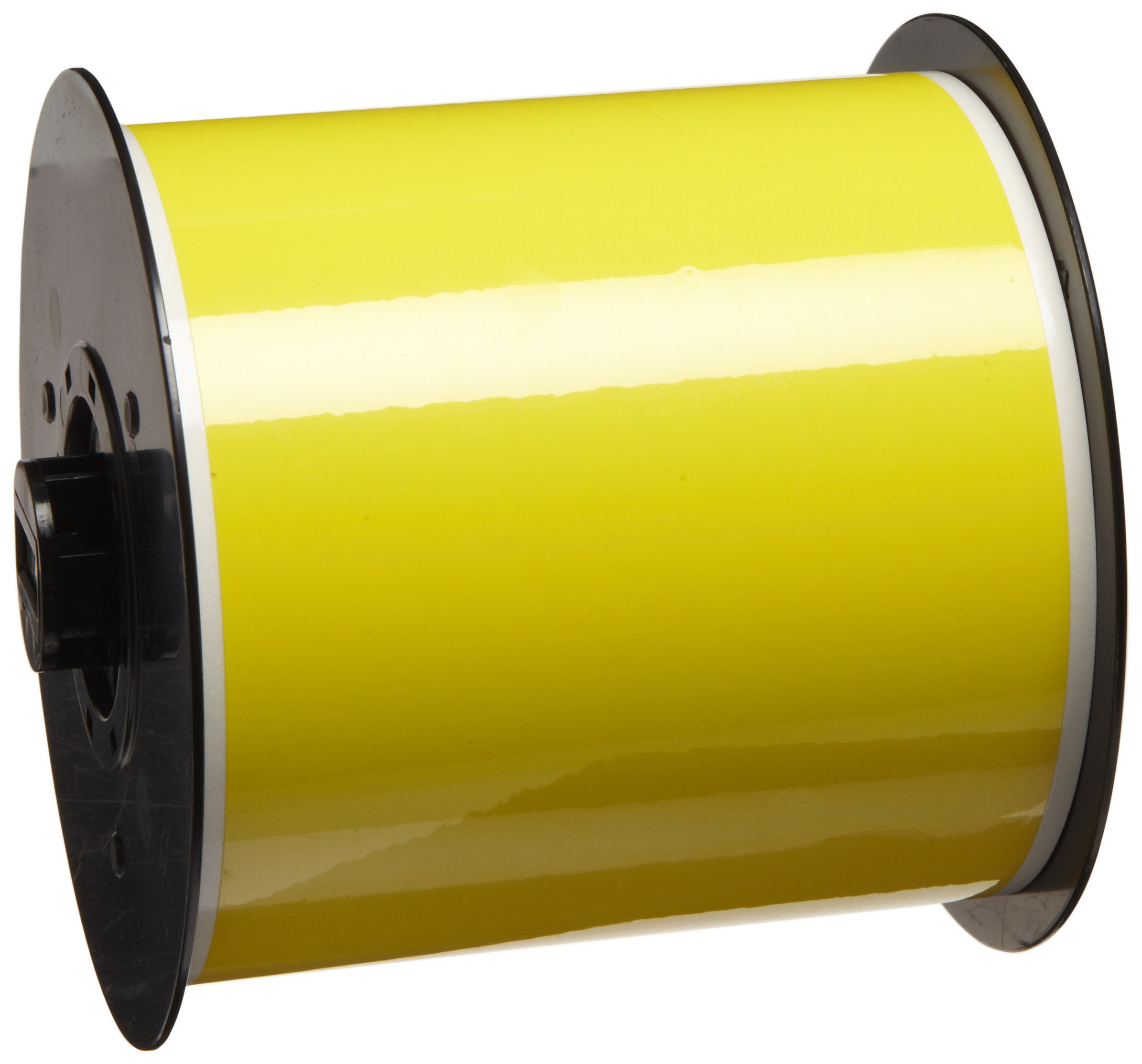 Brady B30C-4000-549-YL 100' Length x 4'' Width, B-549 Polyester, Yellow BBP31 Temperature Label Stock
