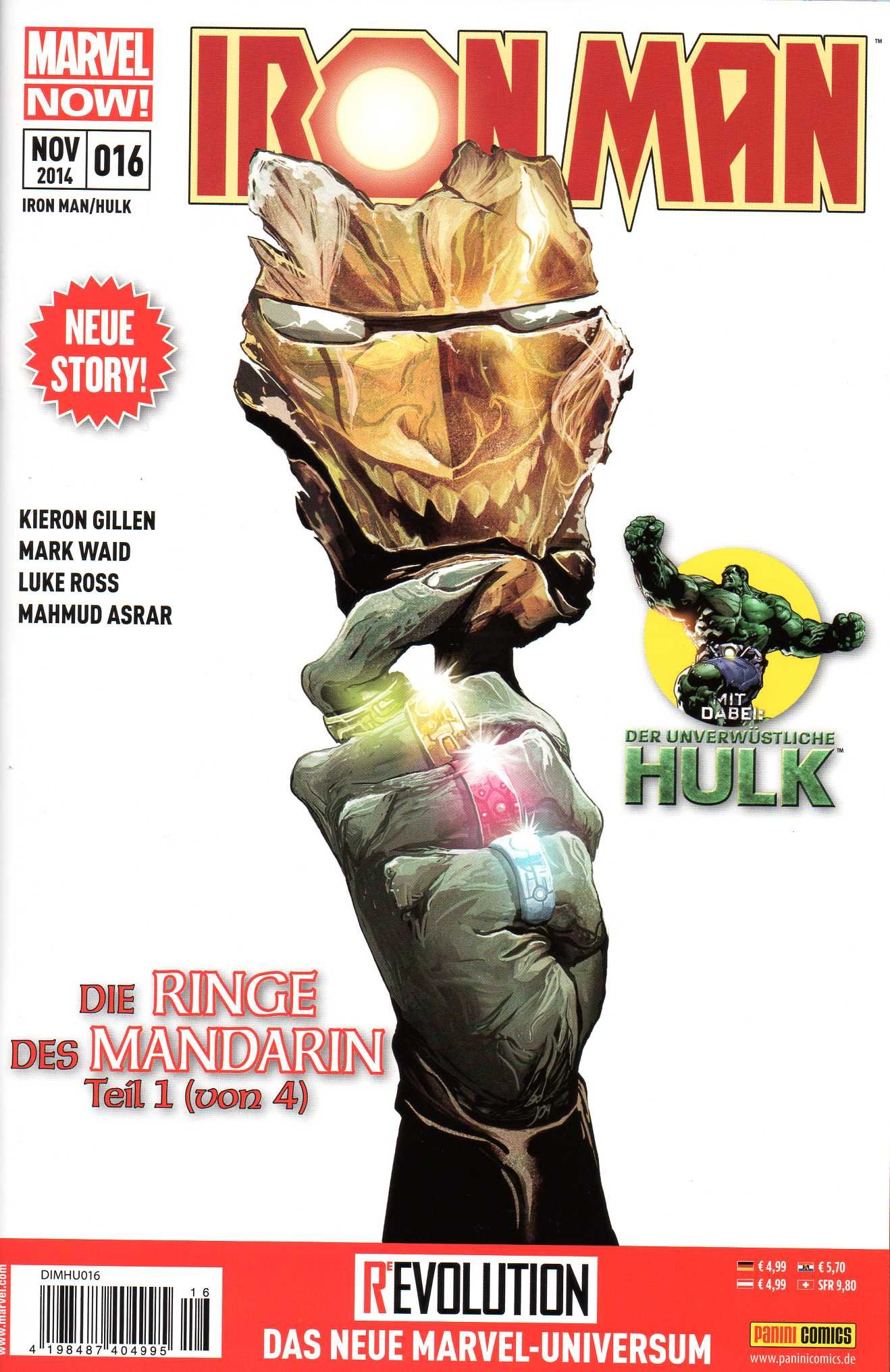 DISNEY MARVEL IRON MAN HULK Comic # 16 (Nov 2014): Menschheit in Gefahr! Comic – 2014 Panini B00OYRJVKA Belletristik - Comic Cartoon
