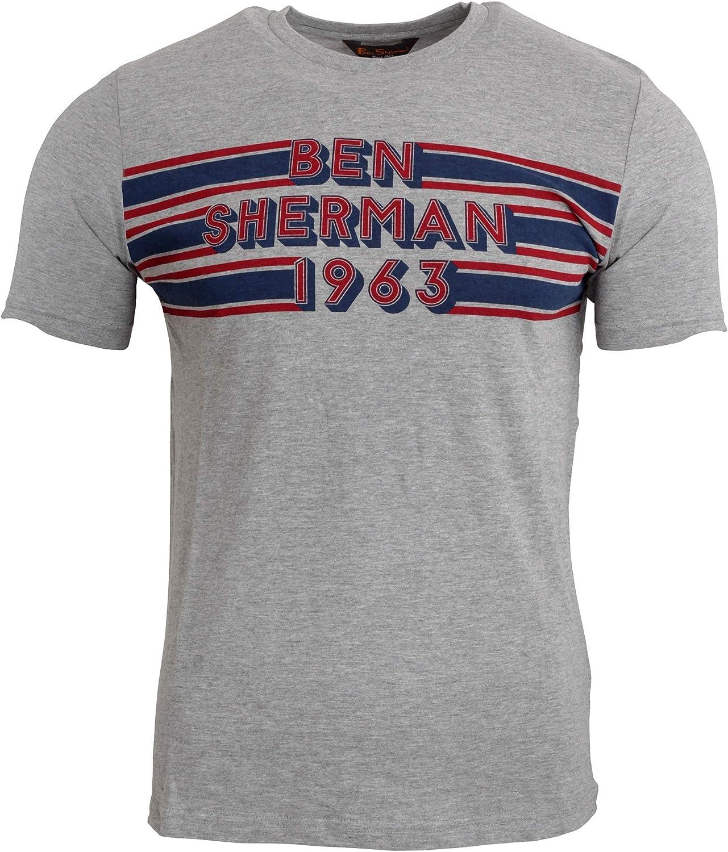 Ben Sherman Mens 3-Button Pocket Henley Tee