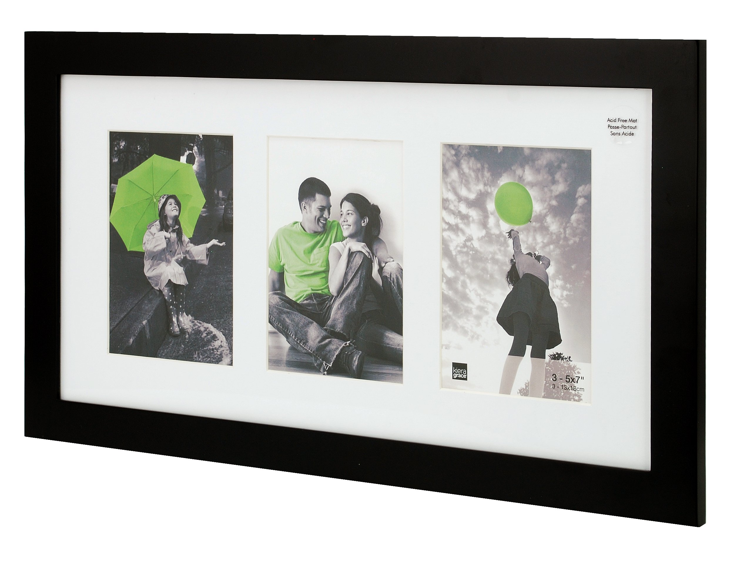 kieragrace Langford Wood Collage Picture Frame, 10 by 20-Inch Matted for 3-5 by 7-Inch Photos, Black by kieragrace (Image #2)