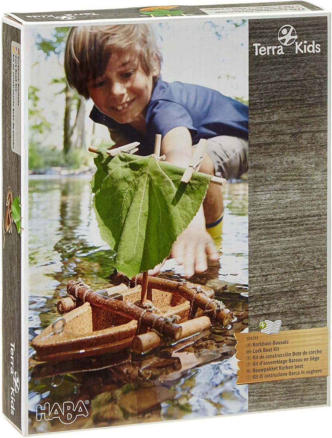 HABA Terra Kids Cork Boat Easy to Assemble and Upgrade with Materials Found in Nature DIY Fun for Young and Old