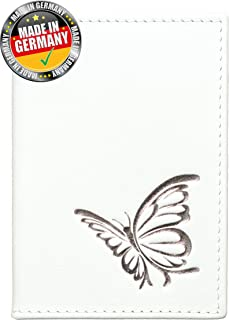 OPTEXX® Secure RFID Blocco Passport Copertura Baltica White-Silver Butterfly NFC / RFID Bloccaggio OPTEXX®; Made in Germany OPTEXX® Baltica Blanc-Argent Butterfly