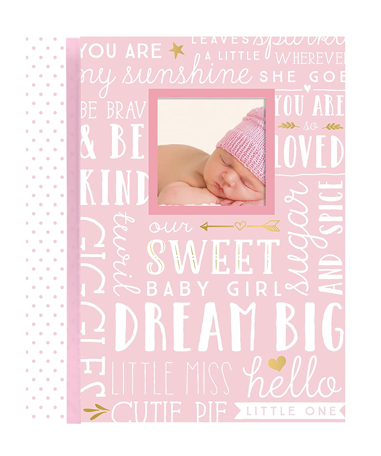 Lil Peach Dream Big Wordplay Baby Memory Book, Pink Pearhead Inc 92270