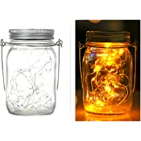 1PCS Mason Jar Light, INS, Solar,LED Lid Inser and Handle Included,20 Led Bulbs,2M Long,Warm White