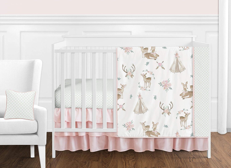 toddler fall infant baby shower birthday Floral Deer Long or Short Sleeve Shirt raglan woodland coral baby shirt baby girl autumn