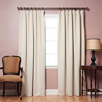 Curtains Ideas blackout pinch pleat curtains : Amazon.com: Best Home Fashion Beige Pinch Pleated Thermal ...