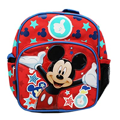 "Ruz Mickey Mouse Magic Stars small 10"" inches Backpack for Boys or Girls: Clothing"
