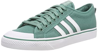 hot sale online cec5b 0517a adidas Nizza Mens Trainers Green White - 8 UK