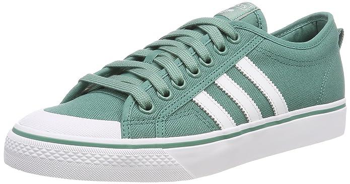 adidas Herren Nizza Sneaker Grün mit weißen Streifen
