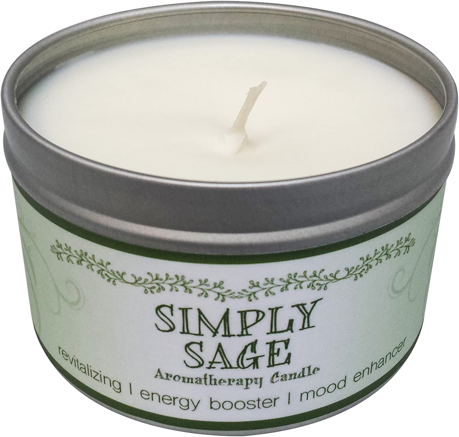 Our Own Candle Company Soy Wax Aromatherapy Candle, Simply Sage, 6.5 Ounce