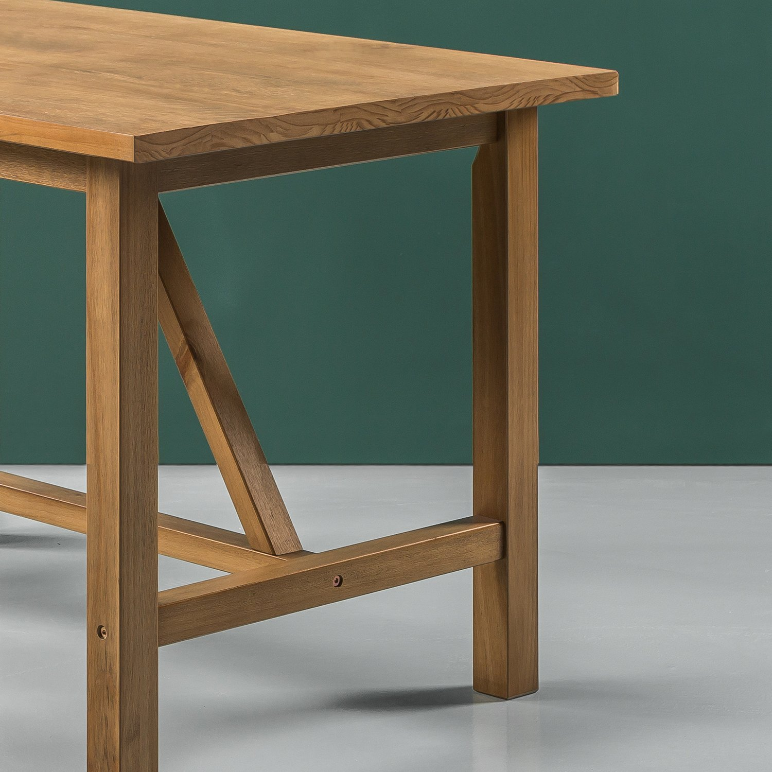 Zinus Brandon Detailed Dining Table in Natural Finish by Zinus (Image #5)