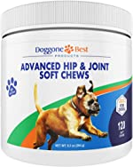 Dog Joint Supplement Chews - All Natural Glucosamine, Chondroitin, MSM &