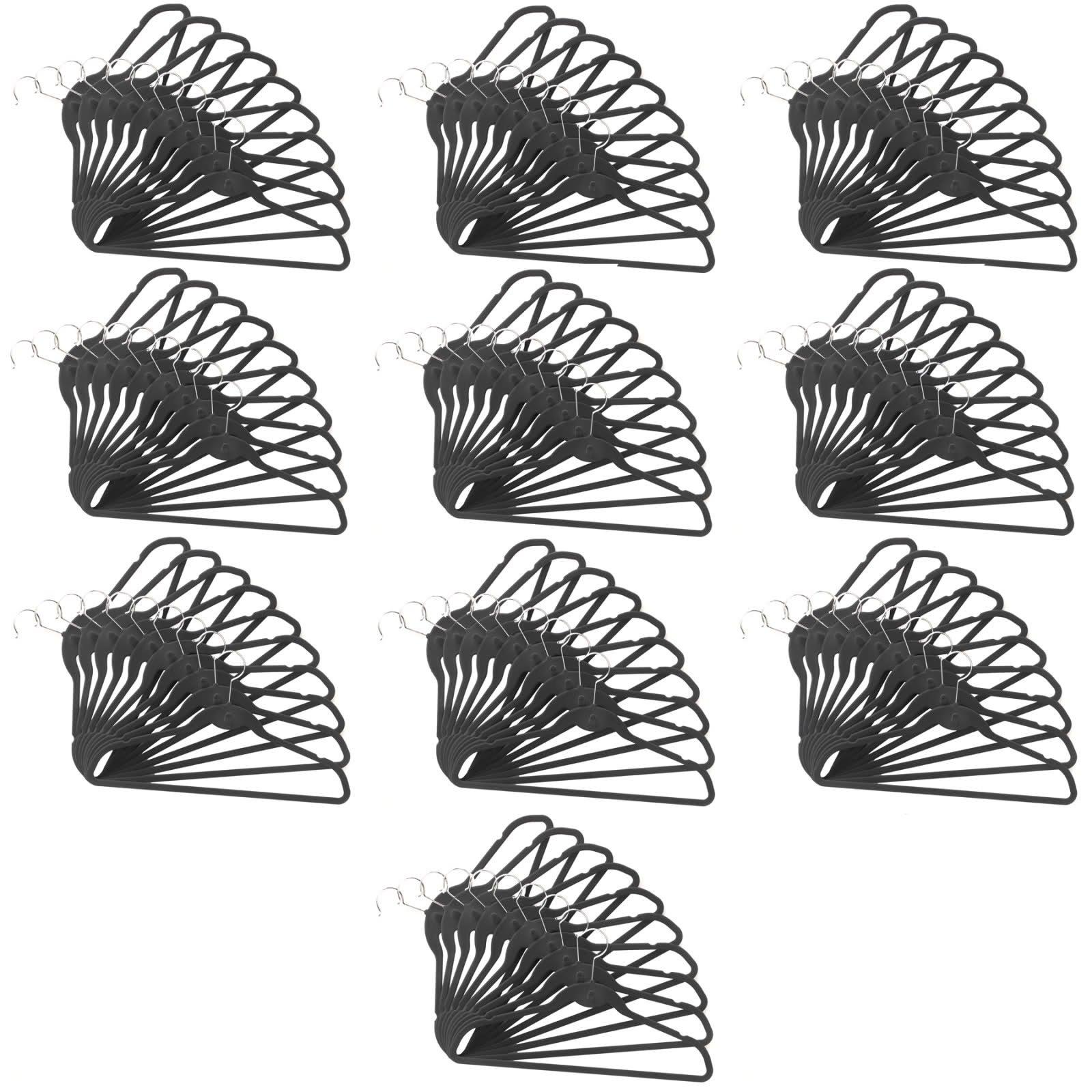 100 Pack ClutterFREE Cascade Hangers - Black