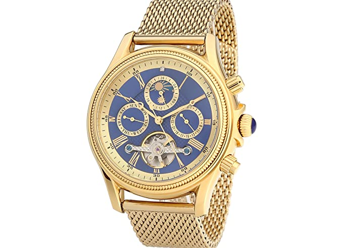 Exclusive Raoul U. marrón automático Reloj rub05 - 0217bgm de BL de Go Reloj de hombre reloj de pulsera acero inoxidable chapado en oro: Amazon.es: Relojes