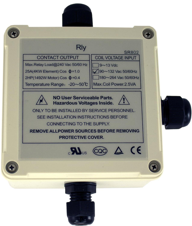Amazoncom  SR V High Power Relay  Amp  Watts Solar - Relay coil voltage 220v