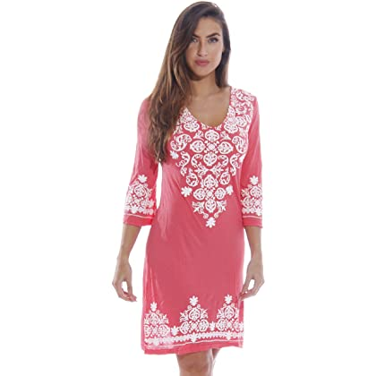 c550b2dc9c5f 1883-Coral-S Just Love Swimsuit Cover Up   Summer Dresses   Resort Wear