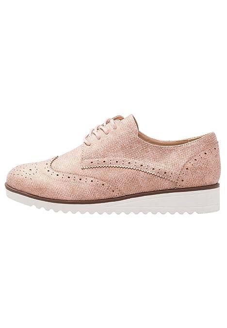 Anna Field Zapatos de Cordones para Mujer con Estilo Derby - Nude ... 67e7872a64b
