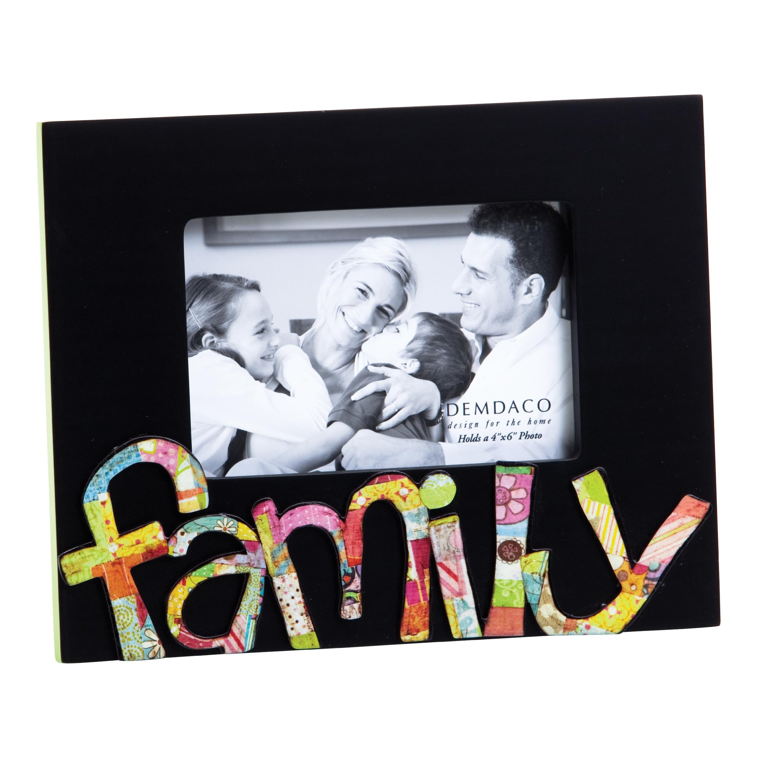 Demdaco Colorful Devotions Family Sculpture Frame, 4 by 6-Inch