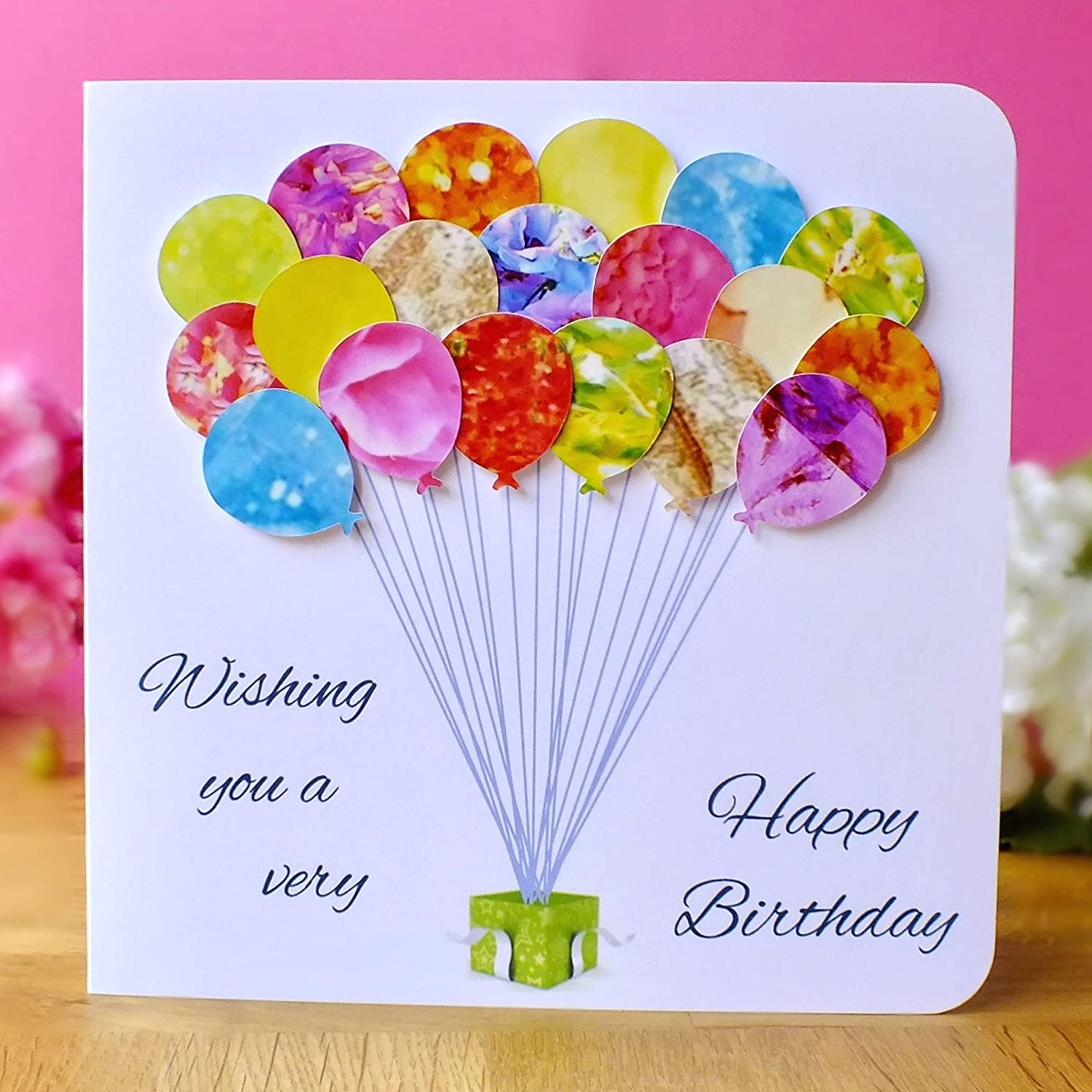 Happy Birthday to a Very Special Daughter Daughter Birthday Card Handmade 3D