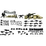 Brique Magma: mitrailleuse, mitraillette, camp, canon des soldats en forêt pour personnaliser des figurines LEGO