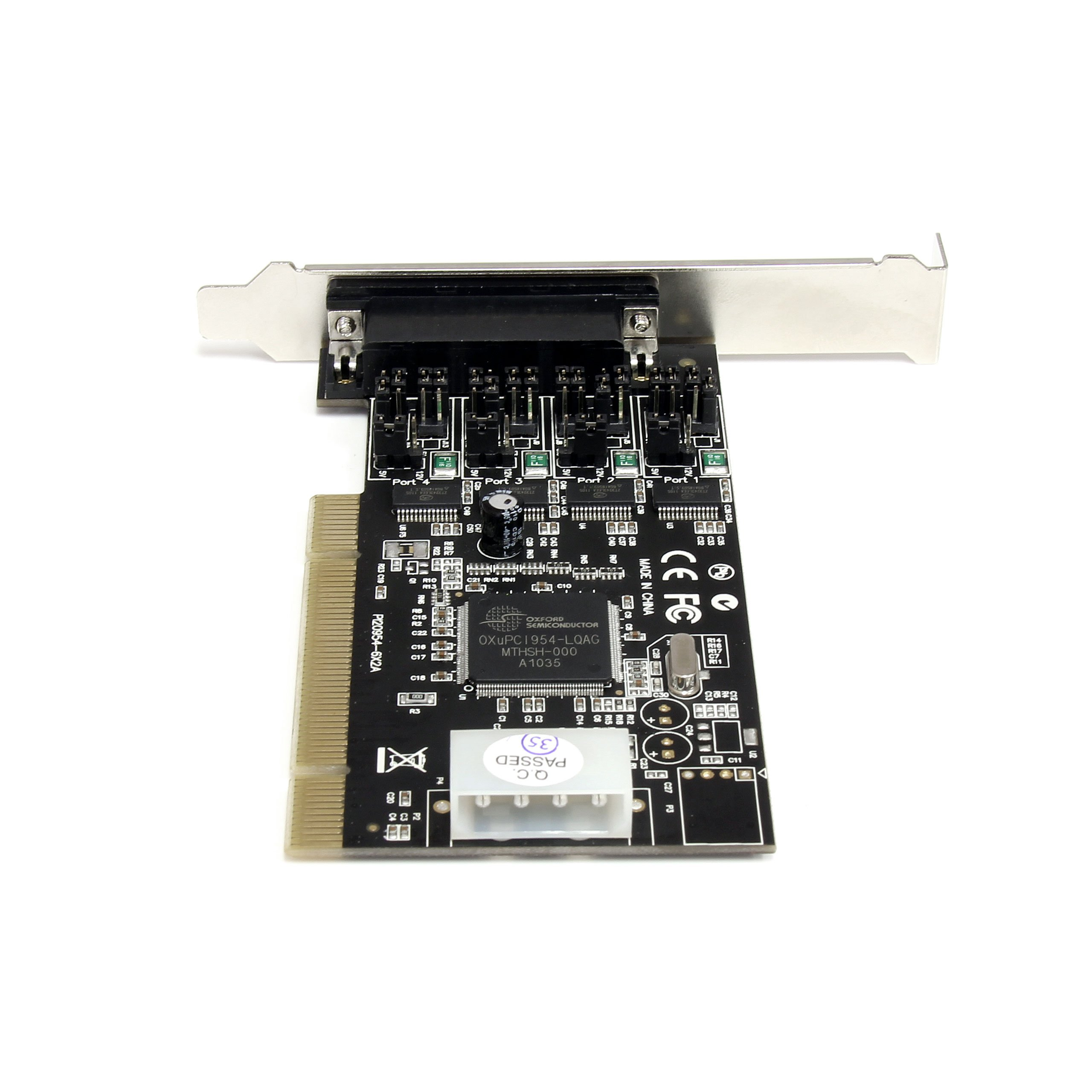 StarTech.com 4 Port RS232 PCI Serial Card Adapter with Power Output Components Black by StarTech (Image #5)