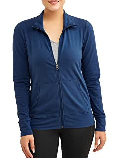 849143752e425 Athletic Works Women's Full Zip Mock Neck Active Performance Jacket ...