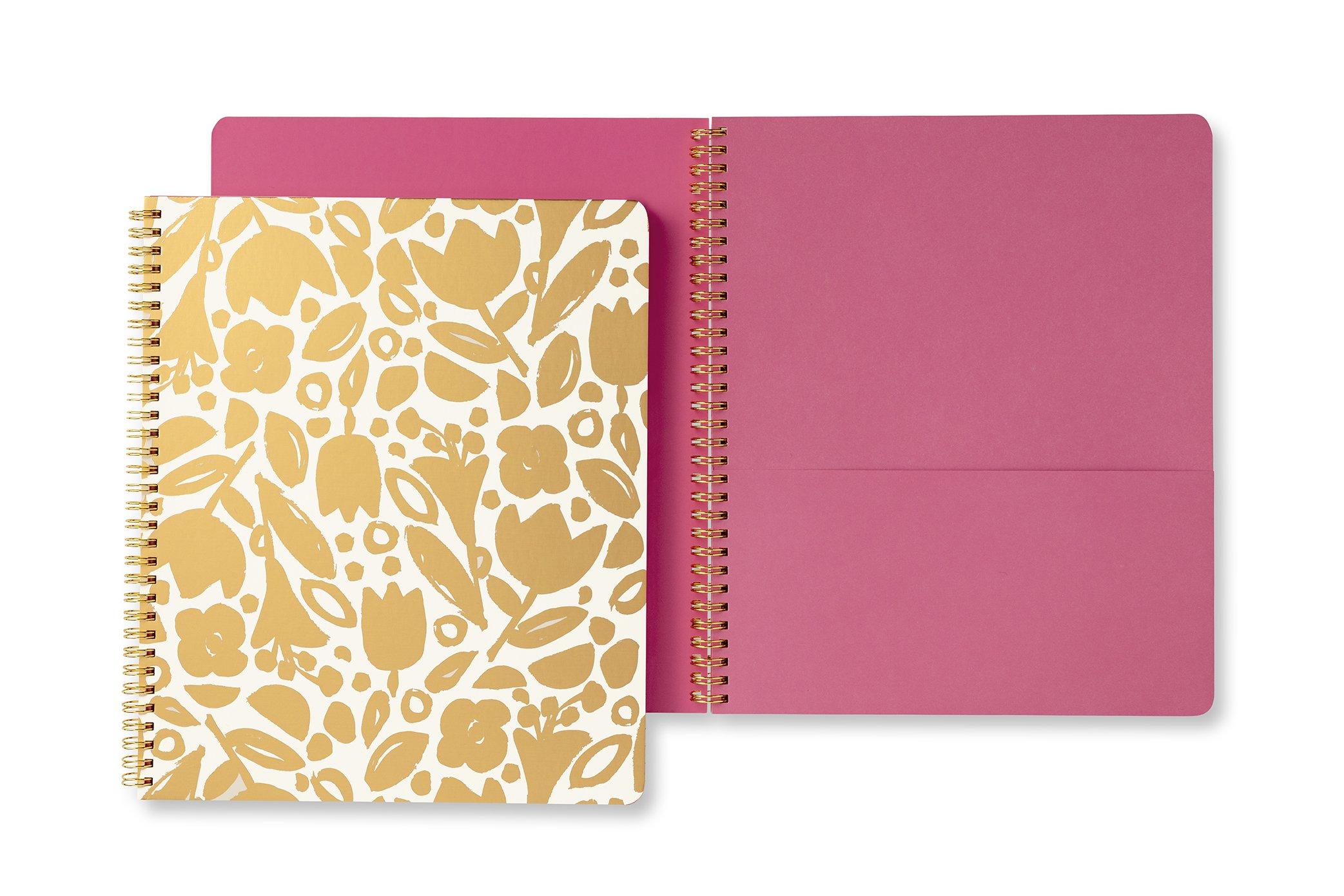 Kate Spade New York Large Spiral Notebook (Golden Floral)