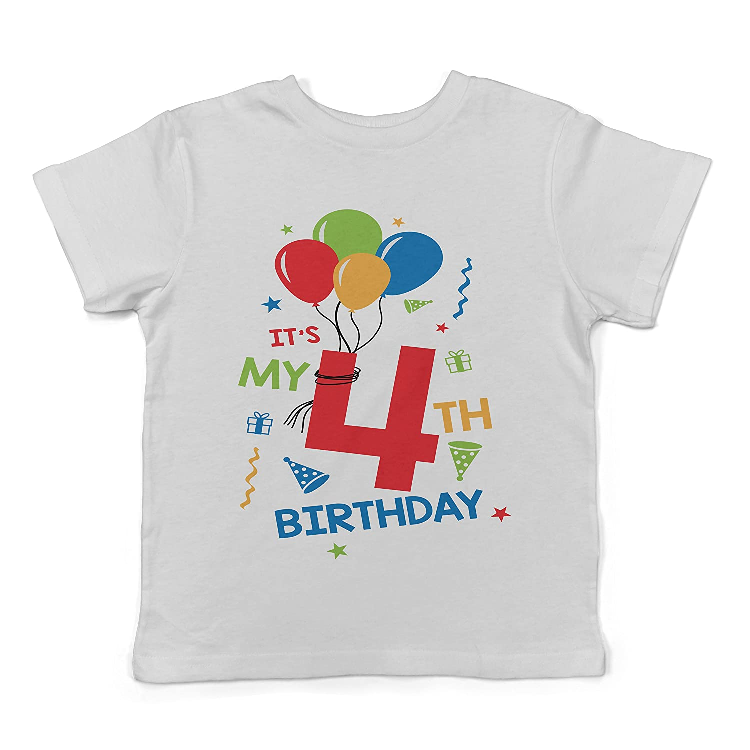 Lil Shirts It's My 4th Birthday Toddler T-Shirt