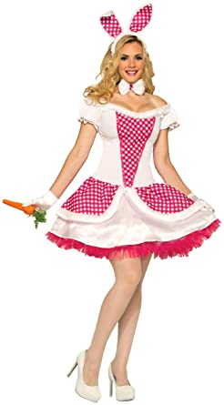 Forum Novelties Womens Country Bunny Costume White Red Standard